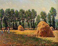 Haystacks at Giverny, 1885, monet