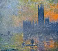 Houses of Parliament, Fog Effect, 1903, monet