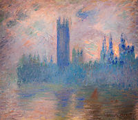 Houses of Parliament, Westminster, 1901, monet
