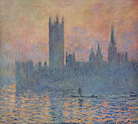 Houses of Parliament in Winter, 1903, monet