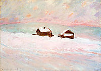Houses in the Snow, Norway, 1895, monet