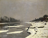 Ice Floes on the Seine at Bougival, 1868, monet