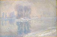Ice on the Siene at Bennecourt, 1897, monet