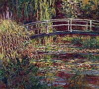 The Japanese Bridge (The Water-Lily Pond, Symphony in Rose), 1900, monet
