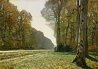 Le Pave de Chailly or The Road from Bas-Breau, 1865, monet