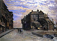 The Lieutenancy at Honfleur, 1864, monet