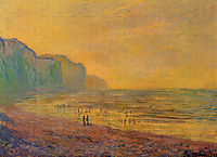 Low Tide at Pourville, Misty Weather, 1882, monet