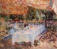 Lunch under the Canopy, 1883, monet