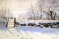 The Magpie, 1868-1869, monet