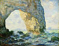 The Manneport, Rock Arch West of Etretat, 1883, monet