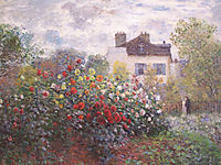 Monet-s Garden at Argenteuil or Dahlias, 1873, monet