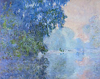 Morning on the Seine 02, 1896, monet