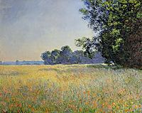 Oat and Poppy Field, 1890, monet