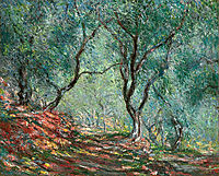 Olive Tree Wood in the Moreno Garden, 1884, monet