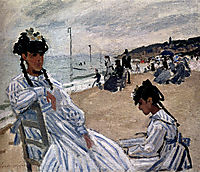 On The Beach At Trouville, 1871, monet