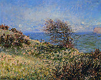 On the Cliff at Fecamp, 1881, monet