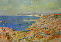 On the Cliff near Dieppe, 1897, monet