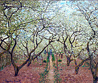 Orchard in Bloom, 1879, monet