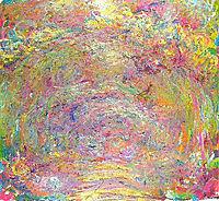 Path under the Rose Trellises, 1924, monet