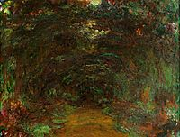 Path under the Rose Trellises, Giverny, 1922, monet