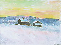Paysage of Norway, the Blue Houses, 1895, monet