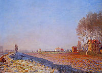 The Plain of Colombes, White Frost, 1873, monet