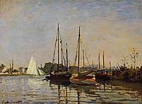 Pleasure Boats, Argenteuil, c.1872-3 (oil on canvas), c.1873, monet