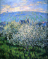 Plums Blossom, 1879, monet