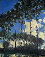 Poplars on the Banks of the Epte, 1891, monet