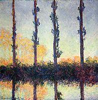 Poplars (Four Trees), 1891, monet