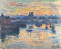 Port of Dieppe, Evening, 1882, monet