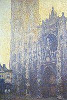 The Portal, Morning Effect Facade and Tour d-Albanel, 1892-1894, monet