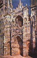 The portal and the tower of Saint Romain, full sun, full sun, 1894, monet