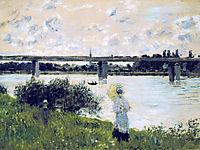 The Promenade near the Bridge of Argenteuil, 1874, monet