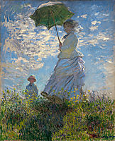 The Promenade, Woman with a Parasol, 1875, monet