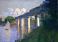 The Railway Bridge at Argenteuil, 1874, monet