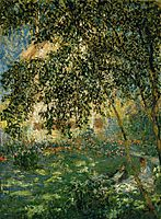 Relaxing in the Garden, Argenteuil, 1876, monet