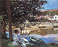 River Scene at Bennecourt, 1868, monet