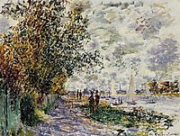 The Riverbank at Petit-Gennevilliers, 1875, monet