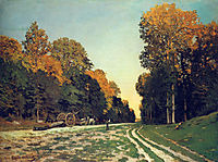 The Road from Chailly to Fontainebleau, 1864, monet