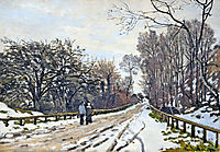 The Road to the Farm of Saint-Simeon, 1867, monet