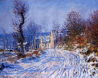 Road to Giverny in Winter, 1885, monet