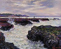 The Rocks at Pourville, Low Tide, 1882, monet