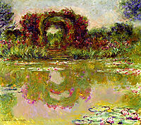 Rose Arches at Giverny, 1913, monet
