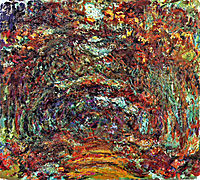 The Rose Path, Giverny, 1922, monet
