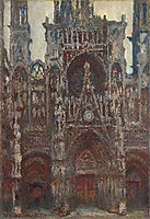 Rouen Cathedral, evening, harmony in brown, 1894, monet