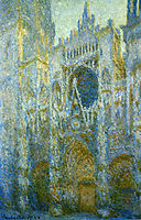 Rouen Cathedral, West Facade, Noon, 1894, monet