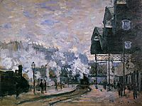 Saint-Lazare Station, the Western Region Goods Sheds, 1877, monet