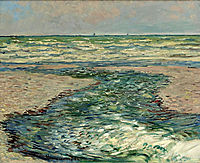 The Seacoast of Pourville, Low Tide, 1882, monet