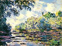 Section of the Seine, near Giverny, 1885, monet